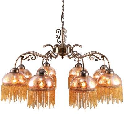 Подвесная люстра Arte lamp A9560LM-8AB PerlinaПодвесные<br>Компания «Светодом» предлагает широкий ассортимент люстр от известных производителей. Представленные в нашем каталоге товары выполнены из современных материалов и обладают отличным качеством. Благодаря широкому ассортименту Вы сможете найти у нас люстру под любой интерьер. Мы предлагаем как классические варианты, так и современные модели, отличающиеся лаконичностью и простотой форм. <br>Стильная люстра Arte lamp A9560LM-8AB станет украшением любого дома. Эта модель от известного производителя не оставит равнодушным ценителей красивых и оригинальных предметов интерьера. Люстра Arte lamp A9560LM-8AB обеспечит равномерное распределение света по всей комнате. При выборе обратите внимание на характеристики, позволяющие приобрести наиболее подходящую модель. <br>Купить понравившуюся люстру по доступной цене Вы можете в интернет-магазине «Светодом».<br><br>Установка на натяжной потолок: Да<br>S освещ. до, м2: 16<br>Крепление: Крюк<br>Тип лампы: накаливания / энергосбережения / LED-светодиодная<br>Тип цоколя: E27<br>Количество ламп: 8<br>MAX мощность ламп, Вт: 40<br>Диаметр, мм мм: 810<br>Длина цепи/провода, мм: 560<br>Высота, мм: 450<br>Оттенок (цвет): желтый<br>Цвет арматуры: бронзовый