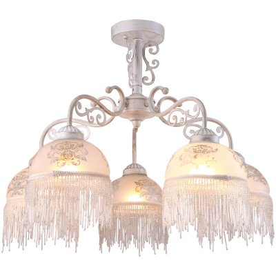 Потолочная люстра Arte lamp A9560PL-5WG PerlinaПотолочные<br>Компания «Светодом» предлагает широкий ассортимент люстр от известных производителей. Представленные в нашем каталоге товары выполнены из современных материалов и обладают отличным качеством. Благодаря широкому ассортименту Вы сможете найти у нас люстру под любой интерьер. Мы предлагаем как классические варианты, так и современные модели, отличающиеся лаконичностью и простотой форм.  Стильная люстра Arte lamp A9560PL-5WG станет украшением любого дома. Эта модель от известного производителя не оставит равнодушным ценителей красивых и оригинальных предметов интерьера. Люстра Arte lamp A9560PL-5WG обеспечит равномерное распределение света по всей комнате. При выборе обратите внимание на характеристики, позволяющие приобрести наиболее подходящую модель. Купить понравившуюся люстру по доступной цене Вы можете в интернет-магазине «Светодом».<br><br>Установка на натяжной потолок: Да<br>S освещ. до, м2: 10<br>Крепление: Планка<br>Тип лампы: накаливания / энергосбережения / LED-светодиодная<br>Тип цоколя: E27<br>Количество ламп: 5<br>MAX мощность ламп, Вт: 40<br>Диаметр, мм мм: 620<br>Высота, мм: 470<br>Оттенок (цвет): белый<br>Цвет арматуры: белый
