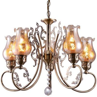 Подвесная люстра Arte lamp A9561LM-5AB BallerinaПодвесные<br>Компания «Светодом» предлагает широкий ассортимент люстр от известных производителей. Представленные в нашем каталоге товары выполнены из современных материалов и обладают отличным качеством. Благодаря широкому ассортименту Вы сможете найти у нас люстру под любой интерьер. Мы предлагаем как классические варианты, так и современные модели, отличающиеся лаконичностью и простотой форм.  Стильная люстра Arte lamp A9561LM-5AB станет украшением любого дома. Эта модель от известного производителя не оставит равнодушным ценителей красивых и оригинальных предметов интерьера. Люстра Arte lamp A9561LM-5AB обеспечит равномерное распределение света по всей комнате. При выборе обратите внимание на характеристики, позволяющие приобрести наиболее подходящую модель. Купить понравившуюся люстру по доступной цене Вы можете в интернет-магазине «Светодом». Мы предлагаем доставку не только по Москве и Екатеринбурге, но и по всей России.<br><br>Установка на натяжной потолок: Да<br>S освещ. до, м2: 10<br>Крепление: Крюк<br>Тип товара: Люстра подвесная<br>Скидка, %: 60<br>Тип лампы: накаливания / энергосбережения / LED-светодиодная<br>Тип цоколя: E14<br>Количество ламп: 5<br>MAX мощность ламп, Вт: 40<br>Диаметр, мм мм: 530<br>Длина цепи/провода, мм: 560<br>Высота, мм: 410<br>Оттенок (цвет): Прозрачный<br>Цвет арматуры: бронзовый