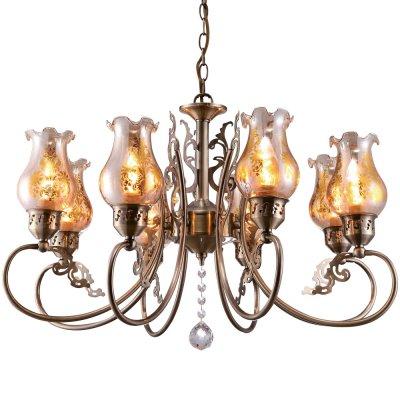 Подвесная люстра Arte lamp A9561LM-8AB BallerinaПодвесные<br>Компания «Светодом» предлагает широкий ассортимент люстр от известных производителей. Представленные в нашем каталоге товары выполнены из современных материалов и обладают отличным качеством. Благодаря широкому ассортименту Вы сможете найти у нас люстру под любой интерьер. Мы предлагаем как классические варианты, так и современные модели, отличающиеся лаконичностью и простотой форм.   Стильная люстра Arte lamp A9561LM-8AB станет украшением любого дома. Эта модель от известного производителя не оставит равнодушным ценителей красивых и оригинальных предметов интерьера. Люстра Arte lamp A9561LM-8AB обеспечит равномерное распределение света по всей комнате. При выборе обратите внимание на характеристики, позволяющие приобрести наиболее подходящую модель.   Купить понравившуюся люстру по доступной цене Вы можете в интернет-магазине «Светодом».<br><br>Установка на натяжной потолок: Да<br>S освещ. до, м2: 16<br>Крепление: Крюк<br>Тип лампы: накаливания / энергосбережения / LED-светодиодная<br>Тип цоколя: E14<br>Количество ламп: 8<br>MAX мощность ламп, Вт: 40<br>Диаметр, мм мм: 640<br>Длина цепи/провода, мм: 560<br>Высота, мм: 410<br>Оттенок (цвет): Прозрачный<br>Цвет арматуры: бронзовый