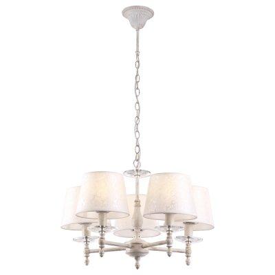 Светильник Arte lamp A9566LM-5WG GRANNYПодвесные<br>Компания «Светодом» предлагает широкий ассортимент люстр от известных производителей. Представленные в нашем каталоге товары выполнены из современных материалов и обладают отличным качеством. Благодаря широкому ассортименту Вы сможете найти у нас люстру под любой интерьер. Мы предлагаем как классические варианты, так и современные модели, отличающиеся лаконичностью и простотой форм.  Стильная люстра Arte lamp A9566LM-5WG станет украшением любого дома. Эта модель от известного производителя не оставит равнодушным ценителей красивых и оригинальных предметов интерьера. Люстра Arte lamp A9566LM-5WG обеспечит равномерное распределение света по всей комнате. При выборе обратите внимание на характеристики, позволяющие приобрести наиболее подходящую модель. Купить понравившуюся люстру по доступной цене Вы можете в интернет-магазине «Светодом».<br><br>Установка на натяжной потолок: Да<br>S освещ. до, м2: 10<br>Крепление: Крюк<br>Тип лампы: Накаливания / энергосбережения / светодиодная<br>Тип цоколя: E14<br>Цвет арматуры: белый<br>Количество ламп: 5<br>Диаметр, мм мм: 560<br>Высота, мм: 390<br>MAX мощность ламп, Вт: 40