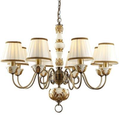 Люстра Arte lamp A9570LM-8WG BenessereПодвесные<br>Компания «Светодом» предлагает широкий ассортимент люстр от известных производителей. Представленные в нашем каталоге товары выполнены из современных материалов и обладают отличным качеством. Благодаря широкому ассортименту Вы сможете найти у нас люстру под любой интерьер. Мы предлагаем как классические варианты, так и современные модели, отличающиеся лаконичностью и простотой форм.  Стильная люстра Arte lamp A9570LM-8WG станет украшением любого дома. Эта модель от известного производителя не оставит равнодушным ценителей красивых и оригинальных предметов интерьера. Люстра Arte lamp A9570LM-8WG обеспечит равномерное распределение света по всей комнате. При выборе обратите внимание на характеристики, позволяющие приобрести наиболее подходящую модель. Купить понравившуюся люстру по доступной цене Вы можете в интернет-магазине «Светодом».<br><br>Установка на натяжной потолок: Да<br>S освещ. до, м2: 21<br>Крепление: Крюк<br>Тип лампы: накаливания / энергосбережения / LED-светодиодная<br>Тип цоколя: E14<br>Цвет арматуры: белый с золотистой патиной<br>Количество ламп: 8<br>Диаметр, мм мм: 720<br>Высота, мм: 580 - 1100<br>MAX мощность ламп, Вт: 40