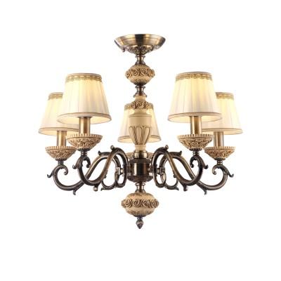 Светильник Arte lamp A9575PL-5AB CherishПотолочные<br>Компания «Светодом» предлагает широкий ассортимент люстр от известных производителей. Представленные в нашем каталоге товары выполнены из современных материалов и обладают отличным качеством. Благодаря широкому ассортименту Вы сможете найти у нас люстру под любой интерьер. Мы предлагаем как классические варианты, так и современные модели, отличающиеся лаконичностью и простотой форм. <br>Стильная люстра Arte lamp A9575PL-5AB станет украшением любого дома. Эта модель от известного производителя не оставит равнодушным ценителей красивых и оригинальных предметов интерьера. Люстра Arte lamp A9575PL-5AB обеспечит равномерное распределение света по всей комнате. При выборе обратите внимание на характеристики, позволяющие приобрести наиболее подходящую модель. <br>Купить понравившуюся люстру по доступной цене Вы можете в интернет-магазине «Светодом».<br><br>Установка на натяжной потолок: Да<br>S освещ. до, м2: 10<br>Крепление: Планка<br>Тип лампы: накаливания / энергосбережения / LED-светодиодная<br>Тип цоколя: E14<br>Количество ламп: 5<br>MAX мощность ламп, Вт: 40<br>Диаметр, мм мм: 660<br>Высота, мм: 540<br>Цвет арматуры: бронзовый