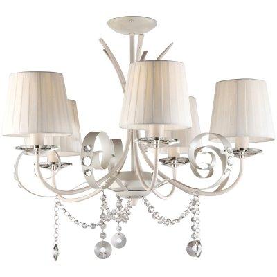 Потолочная люстра Arte lamp A9584PL-5WH MantovaПотолочные<br>Компания «Светодом» предлагает широкий ассортимент люстр от известных производителей. Представленные в нашем каталоге товары выполнены из современных материалов и обладают отличным качеством. Благодаря широкому ассортименту Вы сможете найти у нас люстру под любой интерьер. Мы предлагаем как классические варианты, так и современные модели, отличающиеся лаконичностью и простотой форм.  Стильная люстра Arte lamp A9584PL-5WH станет украшением любого дома. Эта модель от известного производителя не оставит равнодушным ценителей красивых и оригинальных предметов интерьера. Люстра Arte lamp A9584PL-5WH обеспечит равномерное распределение света по всей комнате. При выборе обратите внимание на характеристики, позволяющие приобрести наиболее подходящую модель. Купить понравившуюся люстру по доступной цене Вы можете в интернет-магазине «Светодом».<br><br>Установка на натяжной потолок: Да<br>S освещ. до, м2: 10<br>Крепление: Планка<br>Тип лампы: накаливания / энергосбережения / LED-светодиодная<br>Тип цоколя: E14<br>Количество ламп: 5<br>MAX мощность ламп, Вт: 40<br>Диаметр, мм мм: 650<br>Высота, мм: 560<br>Оттенок (цвет): белый<br>Цвет арматуры: белый