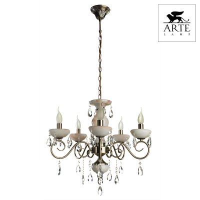Светильник Arte lamp A9591LM-5AB Onyx RedПодвесные<br>Компания «Светодом» предлагает широкий ассортимент люстр от известных производителей. Представленные в нашем каталоге товары выполнены из современных материалов и обладают отличным качеством. Благодаря широкому ассортименту Вы сможете найти у нас люстру под любой интерьер. Мы предлагаем как классические варианты, так и современные модели, отличающиеся лаконичностью и простотой форм.  Стильная люстра Arte lamp A9591LM-5AB станет украшением любого дома. Эта модель от известного производителя не оставит равнодушным ценителей красивых и оригинальных предметов интерьера. Люстра Arte lamp A9591LM-5AB обеспечит равномерное распределение света по всей комнате. При выборе обратите внимание на характеристики, позволяющие приобрести наиболее подходящую модель. Купить понравившуюся люстру по доступной цене Вы можете в интернет-магазине «Светодом».<br><br>Установка на натяжной потолок: Да<br>S освещ. до, м2: 10<br>Крепление: Крюк<br>Тип цоколя: E14<br>Цвет арматуры: бронзовый<br>Количество ламп: 5<br>Диаметр, мм мм: 580<br>Высота, мм: 500<br>MAX мощность ламп, Вт: 40
