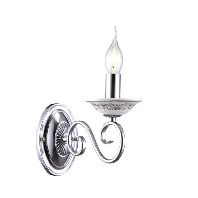 Светильник Arte lamp A9593AP-1CC SoniaКлассические<br><br><br>Тип лампы: накаливания / энергосбережения / LED-светодиодная<br>Тип цоколя: E14<br>Количество ламп: 1<br>Ширина, мм: 110<br>MAX мощность ламп, Вт: 40<br>Длина, мм: 250<br>Высота, мм: 210