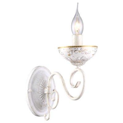 Светильник Arte lamp A9594AP-1WG LuciaКлассические<br><br><br>Тип лампы: Накаливания / энергосбережения / светодиодная<br>Тип цоколя: E14<br>Количество ламп: 1<br>Ширина, мм: 110<br>MAX мощность ламп, Вт: 40<br>Длина, мм: 260<br>Высота, мм: 240<br>Цвет арматуры: белый