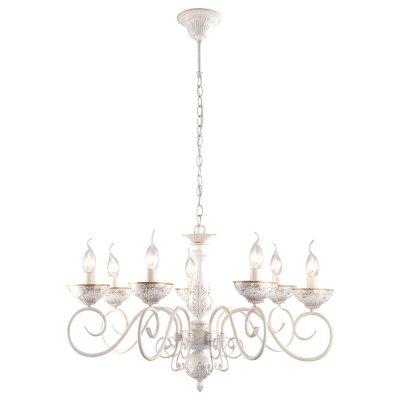 Светильник Arte lamp A9594LM-7WG LuciaПодвесные<br>Компания «Светодом» предлагает широкий ассортимент люстр от известных производителей. Представленные в нашем каталоге товары выполнены из современных материалов и обладают отличным качеством. Благодаря широкому ассортименту Вы сможете найти у нас люстру под любой интерьер. Мы предлагаем как классические варианты, так и современные модели, отличающиеся лаконичностью и простотой форм. <br>Стильная люстра Arte lamp A9594LM-7WG станет украшением любого дома. Эта модель от известного производителя не оставит равнодушным ценителей красивых и оригинальных предметов интерьера. Люстра Arte lamp A9594LM-7WG обеспечит равномерное распределение света по всей комнате. При выборе обратите внимание на характеристики, позволяющие приобрести наиболее подходящую модель. <br>Купить понравившуюся люстру по доступной цене Вы можете в интернет-магазине «Светодом».<br><br>Установка на натяжной потолок: Да<br>S освещ. до, м2: 14<br>Крепление: Крюк<br>Тип лампы: Накаливания / энергосбережения / светодиодная<br>Тип цоколя: E14<br>Количество ламп: 7<br>MAX мощность ламп, Вт: 40<br>Диаметр, мм мм: 720<br>Высота, мм: 440<br>Цвет арматуры: белый