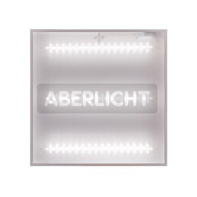 Светодиодный светильник ABERLICHT AC-20/120 PR NW, 595x595x30mm, 20Вт, 2500Лм, 5000K,БАП (0182)Cсветодиодные потолочные светильники 600х600<br>ABERLICHT AC — 20/120 PR NW – это 90 высокоэффективных светодиодов на трех алюминиевых платах. Высокое качество светодиодов ABERLICHT гарантирует, что при условии ежедневной эксплуата- ции, в течение восьми часов, срок службы светильника составит более 10 лет. Основным показателем эффективности для любого светильника является световой поток, он непосредственно показывает<br>«количество» света отдаваемое светильником. Световой поток светильника ABERLICHT AC — 20/120 PR<br>NW, при мощности в 20Вт, равен 2500Лм! Эффективность светильника составляет 151Лм/Вт. Ошибочно<br>думать, что, чем мощней светильник, тем он ярче. На самом деле, мощность – это величина<br>потребляемой энергии за определенный промежуток времени. Благодаря использованию светодиодов<br>последнего поколения, ABERLICHT AC — 20/120 PR NW, дает столько же «света», как светильники мощностью 25Вт.<br><br>Цветовая t, К: 5000<br>Тип лампы: LED - светодиодная<br>Тип цоколя: LED, встроенные светодиоды<br>Ширина, мм: 595<br>Длина, мм: 595<br>Высота, мм: 30<br>MAX мощность ламп, Вт: 20