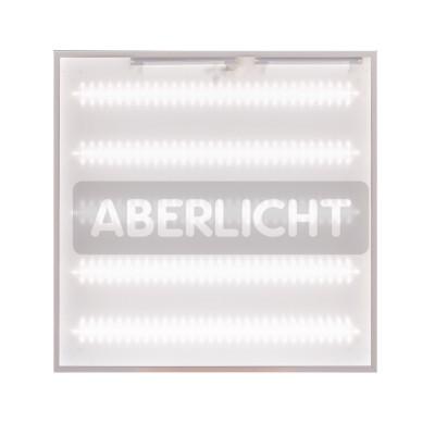 Светодиодный светильник ABERLICHT AC-40/120 PR NW IP54,БАП , 595x595x40mm, 38Вт, 4600Лм, (0173)Cсветодиодные потолочные светильники 600х600<br>Универсальный светодиодный светильник ABERLICHT AC — 40/120 PR NW – это энергоэффективная замена люминесцентного светильника типа «армстронг» а также решение по модернизации освещения офиса, магазина, образовательного учреждения, любого пространства где нужно достичь высокого уровня освещенности, а также существенной экономии. В светильнике используются пять линеек (30 диодов на каждой), вместо привычных четырех, что позволяет использовать его на уровне четырех метров и выше и говорить об этом с гордостью. Драйвер светильника подобран с запасом прочности, в рабочем режиме функционирует лишь на 70%. Отсутствие пульсации позволяет использовать светильник в дошкольных, школьных и медицинских учреждениях. Варианты монтажа : встроенный, накладной, грильято (опционально).<br><br>Тип лампы: LED - светодиодная<br>Тип цоколя: LED, встроенные светодиоды<br>Ширина, мм: 595<br>Длина, мм: 595<br>Высота, мм: 40<br>MAX мощность ламп, Вт: 38