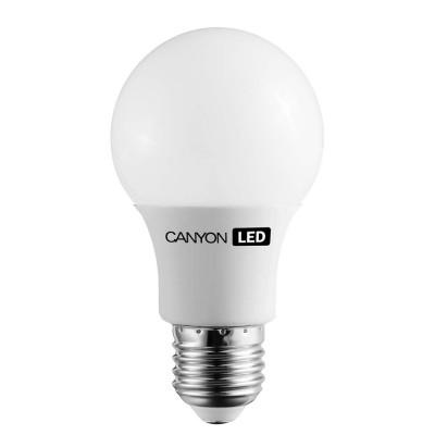 Светодиодная лампа CANYON AE27FR9W230VWСтандартный вид<br>В интернет-магазине «Светодом» можно купить не только люстры и светильники, но и лампочки. В нашем каталоге представлены светодиодные, галогенные, энергосберегающие модели и лампы накаливания. В ассортименте имеются изделия разной мощности, поэтому у нас Вы сможете приобрести все необходимое для освещения.   Лампа Canyon AE27FR9W230VW обеспечит отличное качество освещения. При покупке ознакомьтесь с параметрами в разделе «Характеристики», чтобы не ошибиться в выборе. Там же указано, для каких осветительных приборов Вы можете использовать лампу Canyon AE27FR9W230VWCanyon AE27FR9W230VW.   Для оформления покупки воспользуйтесь «Корзиной». При наличии вопросов Вы можете позвонить нашим менеджерам по одному из контактных номеров. Мы доставляем заказы в Москву, Екатеринбург и другие города России.<br><br>Рекомендуемые колбы ламп: A60<br>Цветовая t, К: 2700<br>Тип лампы: LED - светодиодная<br>Тип цоколя: E27<br>MAX мощность ламп, Вт: 9<br>Диаметр, мм мм: 60<br>Длина, мм: 110<br>Общая мощность, Вт: эквивалент лампы накаливания 60 Ватт