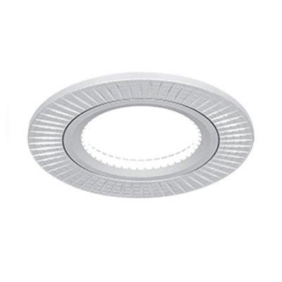 Светильник Gauss Aluminium AL013 Круг. Матовый алюминий, Gu5.3Круглые<br>Встраиваемые светильники – популярное осветительное оборудование, которое можно использовать в качестве основного источника или в дополнение к люстре. Они позволяют создать нужную атмосферу атмосферу и привнести в интерьер уют и комфорт.   Интернет-магазин «Светодом» предлагает стильный встраиваемый светильник Gauss Aluminium AL013. Данная модель достаточно универсальна, поэтому подойдет практически под любой интерьер. Перед покупкой не забудьте ознакомиться с техническими параметрами, чтобы узнать тип цоколя, площадь освещения и другие важные характеристики.   Приобрести встраиваемый светильник Gauss Aluminium AL013 в нашем онлайн-магазине Вы можете либо с помощью «Корзины», либо по контактным номерам. Мы развозим заказы по Москве, Екатеринбургу и остальным российским городам.<br><br>S освещ. до, м2: 3<br>Тип лампы: галогенная/LED<br>Тип цоколя: GU5.3 (MR16)<br>Количество ламп: 1<br>MAX мощность ламп, Вт: 50<br>Диаметр, мм мм: 80<br>Диаметр врезного отверстия, мм: 60<br>Высота, мм: 25<br>Цвет арматуры: серебристый
