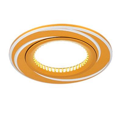 Светильник Gauss Aluminium AL015 Круг. Золото/Хром, Gu5.3Круглые<br>Встраиваемые светильники – популярное осветительное оборудование, которое можно использовать в качестве основного источника или в дополнение к люстре. Они позволяют создать нужную атмосферу атмосферу и привнести в интерьер уют и комфорт.   Интернет-магазин «Светодом» предлагает стильный встраиваемый светильник Gauss Aluminium AL015. Данная модель достаточно универсальна, поэтому подойдет практически под любой интерьер. Перед покупкой не забудьте ознакомиться с техническими параметрами, чтобы узнать тип цоколя, площадь освещения и другие важные характеристики.   Приобрести встраиваемый светильник Gauss Aluminium AL015 в нашем онлайн-магазине Вы можете либо с помощью «Корзины», либо по контактным номерам. Мы развозим заказы по Москве, Екатеринбургу и остальным российским городам.<br><br>S освещ. до, м2: 3<br>Тип лампы: галогенная/LED<br>Тип цоколя: GU5.3 (MR16)<br>Количество ламп: 1<br>MAX мощность ламп, Вт: 50<br>Диаметр, мм мм: 80<br>Диаметр врезного отверстия, мм: 60<br>Высота, мм: 25<br>Цвет арматуры: серебристый
