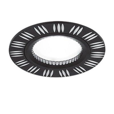 Светильник Gauss Aluminium AL018 Круг. Черный/Хром, Gu5.3Точечные светильники круглые<br>Встраиваемые светильники – популярное осветительное оборудование, которое можно использовать в качестве основного источника или в дополнение к люстре. Они позволяют создать нужную атмосферу атмосферу и привнести в интерьер уют и комфорт.   Интернет-магазин «Светодом» предлагает стильный встраиваемый светильник Gauss Aluminium AL018. Данная модель достаточно универсальна, поэтому подойдет практически под любой интерьер. Перед покупкой не забудьте ознакомиться с техническими параметрами, чтобы узнать тип цоколя, площадь освещения и другие важные характеристики.   Приобрести встраиваемый светильник Gauss Aluminium AL018 в нашем онлайн-магазине Вы можете либо с помощью «Корзины», либо по контактным номерам. Мы развозим заказы по Москве, Екатеринбургу и остальным российским городам.<br><br>S освещ. до, м2: 3<br>Тип лампы: галогенная/LED<br>Тип цоколя: GU5.3 (MR16)<br>Цвет арматуры: серебристый<br>Количество ламп: 1<br>Диаметр, мм мм: 80<br>Диаметр врезного отверстия, мм: 60<br>Высота, мм: 25<br>MAX мощность ламп, Вт: 50