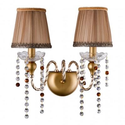Светильник настенный бра Crystal lux ALEGRIA AP2 GOLD-BROWN 1041/402классические бра<br><br><br>Тип цоколя: E14<br>Цвет арматуры: Золотой, патина коричневая<br>Количество ламп: 2<br>Ширина, мм: 235<br>Длина, мм: 430<br>Высота, мм: 390<br>MAX мощность ламп, Вт: 60