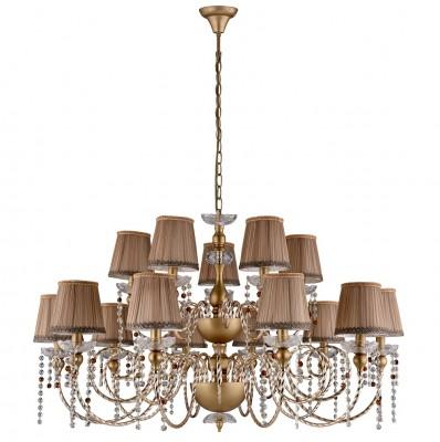 Люстра Crystal lux ALEGRIA SP10+5 GOLD-BROWN 1041/315Подвесные<br><br><br>Установка на натяжной потолок: Да<br>S освещ. до, м2: 45<br>Тип цоколя: E14<br>Цвет арматуры: Золотой, патина коричневая<br>Количество ламп: 15<br>Диаметр, мм мм: 1084<br>Длина цепи/провода, мм: 1340<br>Высота, мм: 640<br>MAX мощность ламп, Вт: 60