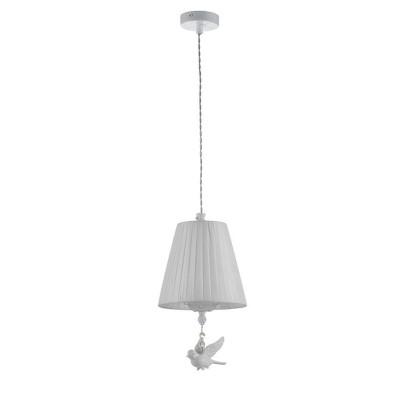 Подвес Maytoni ARM001-22-W Passarinhoодиночные подвесные светильники<br><br><br>Тип лампы: Накаливания / энергосбережения / светодиодная<br>Тип цоколя: E14<br>Цвет арматуры: Белый<br>Количество ламп: 1<br>Глубина, мм: 180<br>Оттенок (цвет): Белый<br>MAX мощность ламп, Вт: 40