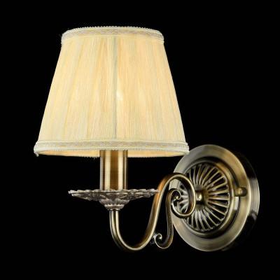 Светильник бра Maytoni ARM011-01-R BattistaКлассические<br><br><br>Тип лампы: накаливания / энергосбережения / LED-светодиодная<br>Тип цоколя: E14<br>Цвет арматуры: бронзовый<br>Количество ламп: 1<br>Диаметр, мм мм: 160<br>Высота, мм: 230<br>MAX мощность ламп, Вт: 40