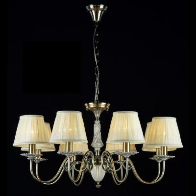 Люстра Maytoni ARM011-08-R BattistaПодвесные<br><br><br>Установка на натяжной потолок: Да<br>S освещ. до, м2: 16<br>Крепление: Крюк<br>Тип товара: Люстра<br>Тип лампы: накаливания / энергосбережения / LED-светодиодная<br>Тип цоколя: E14<br>Количество ламп: 8<br>MAX мощность ламп, Вт: 40<br>Диаметр, мм мм: 790<br>Длина цепи/провода, мм: 400<br>Высота, мм: 380<br>Цвет арматуры: бронзовый