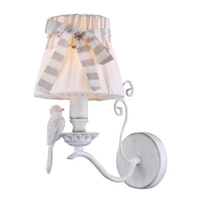 Светильник бра Maytoni ARM013-01-W с птичкой Birdбра флористика и цветы<br>Настенный светильник бра с птичкой и абажуром создает ощущение живого интерьера в Вашем доме.<br><br>S освещ. до, м2: 2<br>Тип лампы: накаливания / энергосбережения / LED-светодиодная<br>Тип цоколя: E14<br>Цвет арматуры: белый<br>Количество ламп: 1<br>Ширина, мм: 150<br>Расстояние от стены, мм: 200<br>Высота, мм: 300<br>MAX мощность ламп, Вт: 40