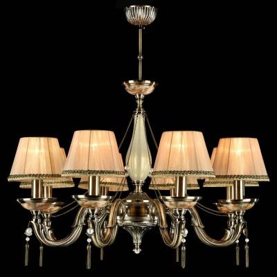 Люстра Maytoni ARM024-08-R DemitasПотолочные<br><br><br>Установка на натяжной потолок: Да<br>S освещ. до, м2: 16<br>Крепление: крюк<br>Тип лампы: накаливания / энергосбережения / LED-светодиодная<br>Тип цоколя: E14<br>Количество ламп: 8<br>MAX мощность ламп, Вт: 40<br>Диаметр, мм мм: 765<br>Длина цепи/провода, мм: 400<br>Высота, мм: 480<br>Цвет арматуры: бронзовый