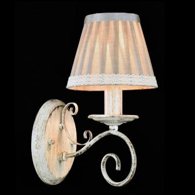 Бра Maytoni ARM029-01-W FelicitaРустика<br><br><br>Тип лампы: накаливания / энергосбережения / LED-светодиодная<br>Тип цоколя: E14<br>Количество ламп: 1<br>MAX мощность ламп, Вт: 40<br>Диаметр, мм мм: 140<br>Высота, мм: 310<br>Цвет арматуры: белый