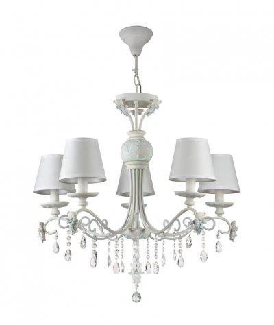 Люстра Maytoni ARM033-05-BL LaurieПодвесные<br><br><br>Установка на натяжной потолок: Да<br>S освещ. до, м2: 10<br>Тип цоколя: E14<br>Количество ламп: 5<br>Диаметр, мм мм: 750<br>Высота, мм: 710<br>MAX мощность ламп, Вт: 40