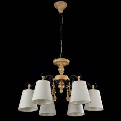 Светильник Maytoni ARM034-06-RПодвесные<br><br><br>Установка на натяжной потолок: Да<br>S освещ. до, м2: 12<br>Крепление: Крюк<br>Тип лампы: Накаливания / энергосбережения / светодиодная<br>Тип цоколя: E14<br>Цвет арматуры: деревянный<br>Количество ламп: 6<br>Диаметр, мм мм: 620<br>Высота, мм: 410<br>MAX мощность ламп, Вт: 40