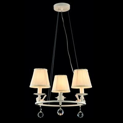 Светильник Maytoni ARM112-03-WПодвесные<br><br><br>Установка на натяжной потолок: Да<br>S освещ. до, м2: 6<br>Крепление: Планка<br>Тип лампы: Накаливания / энергосбережения / светодиодная<br>Тип цоколя: E14<br>Количество ламп: 3<br>MAX мощность ламп, Вт: 40<br>Диаметр, мм мм: 470<br>Высота, мм: 1000<br>Цвет арматуры: белый