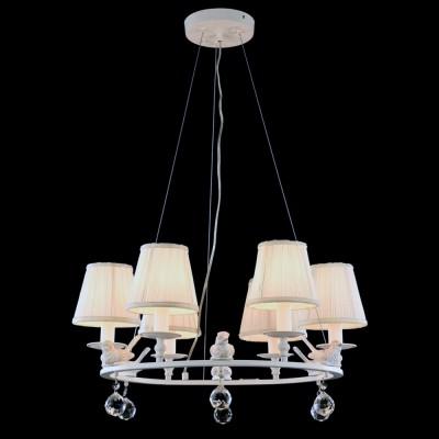 Светильник Maytoni ARM112-06-WПодвесные<br><br><br>Установка на натяжной потолок: Да<br>S освещ. до, м2: 12<br>Крепление: Планка<br>Тип лампы: Накаливания / энергосбережения / светодиодная<br>Тип цоколя: E14<br>Количество ламп: 6<br>MAX мощность ламп, Вт: 40<br>Диаметр, мм мм: 620<br>Высота, мм: 1000<br>Цвет арматуры: белый