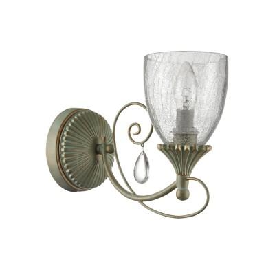 Бра Maytoni ARM145-01-MG Sabinaклассические бра<br><br><br>Тип лампы: Накаливания / энергосбережения / светодиодная<br>Тип цоколя: E14<br>Цвет арматуры: Мятное золотой<br>Количество ламп: 1<br>Ширина, мм: 135<br>Высота, мм: 230<br>Оттенок (цвет): золотой<br>MAX мощность ламп, Вт: 60