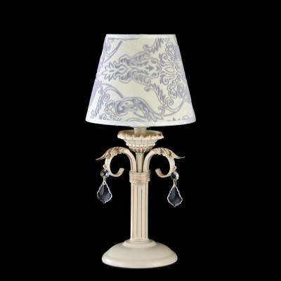 Светильник Maytoni ARM219-00-G Elegant 2Современные<br>Классическая декоративная настольная лампа компании Maytoni, украсит Ваш дом, подарит свет и уют. Рассмотреть декоративную настольную лампу Maytoni Elegant ARM219-00-G можно на прилагаемой к товару фотографии. На круглой подставке располагается ножка, удерживающая тканевый плафон с нанесённым на него рисунком синего цвета. Арматура светильника украшена хрустальными подвесками и имеет цвет кремового золота. Невысокая цена светильника, который предлагает купить фирма Майтони, сочетается с высоким качеством товара и его надёжностью. Также, несмотря на низкую стоимость, лампа имеет стильный вид и богатую отделку.<br><br>S освещ. до, м2: 2<br>Тип лампы: накаливания / энергосбережения / LED-светодиодная<br>Тип цоколя: E14<br>Цвет арматуры: золотой<br>Количество ламп: 1<br>Диаметр, мм мм: 180<br>Высота, мм: 380<br>MAX мощность ламп, Вт: 40
