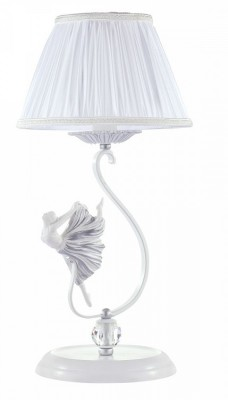 Настольная лампа Maytoni ARM222-11-N ElinaНастольные лампы прованс<br>Изящная балерина украсит Вашу спальню или детскую, светильник в стиле Прованс  от немецких дизайнеров модель   ARM222-11-N Elina. Абажур из прозрачной,  воздушной огранзы белого цвета придают светильнику женственность. Большой хрусталь будет играть в лучах света, и дарить тепло и уют Вашей комнате. Производитель Maytoni рекомендует использовать для устройства  лампы накаливания с цоколем E14. Осветительный прибор произведен с использованием материала:  арматура из металла, абажур из органзы, хрустальный шар. <br>Для покупки устройства просто нажмите кнопку «добавить в корзину» или свяжитесь с нашими менеджерами  по указанным на сайте номерам. Мы доставляем заказы по Москве, Екатеринбургу и другим российским городам<br><br>S освещ. до, м2: 2<br>Тип лампы: накаливания / энергосбережения / LED-светодиодная<br>Тип цоколя: E14<br>Цвет арматуры: Белый<br>Количество ламп: 1<br>Диаметр, мм мм: 230<br>Высота, мм: 470<br>Поверхность арматуры: глянцевая<br>MAX мощность ламп, Вт: 40