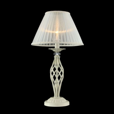 Светильник Maytoni ARM247-00-G Elegant 3Классические<br>Декоративная настольная лампа от немецкой компании Maytoni невероятно красива и элегантна. Предлагаем внимательно рассмотреть фото изделия. Конструкция декоративной настольной лампы Maytoni Elegant ARM247-00-G состоит из светло-белого плафона, выполненного по типу торшерного абажура, и из резной фигурной ножки из металла цвета кремовое золото. Плафон обтянут светло-белой прозрачной тканью. Проходящий сквозь него световой поток получается матовым, уютным и приятным для глаз. Дополнительное изящество создают легкие гофры на текстиле. Цена этой лампы от Майтони соответствует красивому дизайну и надежному качеству. Спешите купить столь очаровательное устройство по престижной стоимости.<br><br>S освещ. до, м2: 4<br>Тип лампы: накаливания / энергосбережения / LED-светодиодная<br>Тип цоколя: E14<br>Цвет арматуры: золотой<br>Количество ламп: 1<br>Диаметр, мм мм: 320<br>Высота, мм: 560<br>MAX мощность ламп, Вт: 60