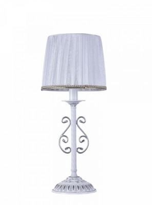 Светильник Maytoni ARM290-11-W SunriseКлассические настольные лампы<br>Настольная лампа ARM290-11-W  от компании  Maytoni   отлично впишется в  Вашу спальню, гостиную, детскую. Кованные завитки по форме веточек понравится  всем любителям Классики, Арт Деко, Прованса, плафон из прозрачной плиссированной органзы делает светильник воздушным.  Площадь освещения – примерно 2  кв. м, Производитель Maytoni рекомендует использовать для устройства 1 лампу накаливания с цоколем E14. Осветительный прибор произведен с использованием материала: металла,  органза.<br>Для покупки устройства просто нажмите кнопку «добавить в корзину» или свяжитесь с нашими менеджерами  по указанным на сайте номерам. Мы доставляем заказы по Москве, Екатеринбургу и другим российским городам.<br><br>S освещ. до, м2: 2<br>Тип лампы: накаливания / энергосбережения / LED-светодиодная<br>Тип цоколя: E14<br>Цвет арматуры: белый<br>Количество ламп: 1<br>Диаметр, мм мм: 220<br>Высота, мм: 520<br>MAX мощность ламп, Вт: 40
