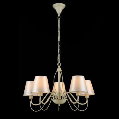Светильник Maytoni ARM327-05-WПодвесные<br><br><br>Установка на натяжной потолок: Да<br>S освещ. до, м2: 10<br>Крепление: Крюк<br>Тип товара: Люстра<br>Тип лампы: Накаливания / энергосбережения / светодиодная<br>Тип цоколя: E14<br>Количество ламп: 5<br>MAX мощность ламп, Вт: 40<br>Диаметр, мм мм: 630<br>Высота, мм: 892<br>Цвет арматуры: бежевый