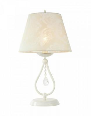Настольная лампа Maytoni ARM334-11-W Talia 1Современные настольные лампы модерн<br>Стиль Прованс, это уют дома, нежность и натуральность цветовой гаммы, таким выступает настольный  светильник  ARM334-11-W Talia 1. Декорирован осветительный прибор подвеской из хрусталя, который придает светильнику женственность и изысканность. Светильник отлично впишется в любую детскую комнату или спальню, абажур белого цвета с винтажным рисунком придает светильнику таинственность, если хотите поменять цвет абажура то легко найдете сменный вариант. Производитель Maytoni рекомендует использовать для устройства лампы накаливания с цоколем E14. Осветительный прибор произведен с использованием материала: арматура из металла, абажур из ПВХ покрыт хлопком. Подвески из хрусталя.  Для покупки устройства просто нажмите кнопку «добавить в корзину» или свяжитесь с нашими менеджерами по указанным на сайте номерам. Мы доставляем заказы по Москве, Екатеринбургу и другим российским городам.<br><br>S освещ. до, м2: 2.2<br>Тип лампы: Накаливания / энергосбережения / светодиодная<br>Тип цоколя: E14<br>Цвет арматуры: белый с золотистой патиной<br>Количество ламп: 1<br>Диаметр, мм мм: 280<br>Высота, мм: 500<br>Оттенок (цвет): белый<br>MAX мощность ламп, Вт: 60