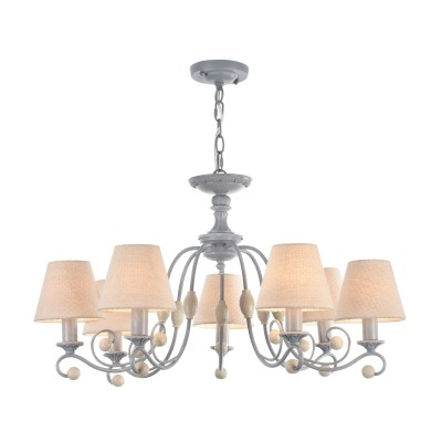 Люстра Maytoni ARM355-PL-07-GR RebeccaПодвесные<br><br><br>S освещ. до, м2: 14<br>Тип лампы: накаливания / энергосбережения / LED-светодиодная<br>Тип цоколя: E14<br>Цвет арматуры: Серый<br>Количество ламп: 7<br>Диаметр, мм мм: 730<br>Высота полная, мм: 1480<br>Высота, мм: 448<br>MAX мощность ламп, Вт: 40