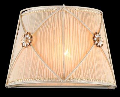 Светильник Maytoni ARM369-01-G Elegant 36 LeaРустика<br><br><br>S освещ. до, м2: 2<br>Тип лампы: накаливания / энергосбережения / LED-светодиодная<br>Тип цоколя: E14<br>Цвет арматуры: белый с золотистой патиной<br>Количество ламп: 1<br>Ширина, мм: 210<br>Расстояние от стены, мм: 150<br>Высота, мм: 190<br>MAX мощность ламп, Вт: 40