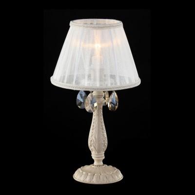 Настольная лампа Maytoni ARM387-00-W Elegant 10Современные<br>Такая модель отличается некоторым кокетством и больше подойдет для украшения дамской спальни или туалетного столика. Необычайно элегантная настольная лампа Maytoni Elegant ARM387-00-W имеет устойчивое основание, не позволяющее ей упасть. Цвет, использованный дизайнерами: слоновая кость, белый абажур и подвески под бриллиант, подойдет к любому интерьеру. Следует отметить удобный небольшой размер изделия, что видно на фото. При этом лампа в 40 W будет давать достаточно света. Цена приятно удивит, компании Майтони удается сочетать качество своей продукции с невысокой стоимостью. Вы очень порадуете себя и своих близких, если решите купить эту настольную лампу от Maytoni.<br><br>S освещ. до, м2: 4<br>Тип лампы: накаливания / энергосбережения / LED-светодиодная<br>Тип цоколя: E14<br>Количество ламп: 1<br>MAX мощность ламп, Вт: 60<br>Диаметр, мм мм: 220<br>Высота, мм: 400<br>Цвет арматуры: бежевый