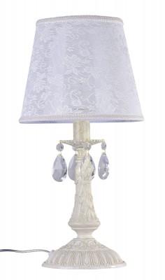 Светильник Maytoni ARM390-00-W FilomenaНастольные лампы прованс<br>Настольная лампа  ARM390-00-W Filomena  от компании Maytoni из Германии, отличный выбор для создания винтажного  стиля в комнате, спальне, детской.  Арматура в цвете слоновая кость , с рисунком в стиле барокко,  декоративными элементами в виде хрустальных подвесок,  белый  абажур добавят комнате шарм и изысканность.  Светильник  от Майтони — это качественное устройство от мирового бренда по справедливой стоимости. Производитель Maytoni рекомендует использовать для устройства  1 лампу накаливания  с цоколем E14. Освещает  светильник 2 м2. Осветительный прибор произведен с использованием материала: арматура из металла,  кружевной абажур.<br>Для покупки устройства просто нажмите кнопку «добавить в корзину» или свяжитесь с нашими менеджерами.<br><br>S освещ. до, м2: 2<br>Тип лампы: накаливания / энергосбережения / LED-светодиодная<br>Тип цоколя: E14<br>Цвет арматуры: бежевый<br>Количество ламп: 1<br>Диаметр, мм мм: 220<br>Высота, мм: 463<br>Поверхность арматуры: Матовая<br>MAX мощность ламп, Вт: 40