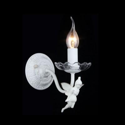 Светильник Maytoni ARM392-01-W Elegant Angelсовременные бра модерн<br>Представляем вашему вниманию прелестное, умилительное бра от компании Майтони. Дизайн изделия заслуживает самой высокой похвалы. Взгляните на фото, плафон в виде горящей свечи на изящном подсвечнике выглядит просто потрясающе. Декор бра Maytoni ARM392-01-W в виде очаровательного ангелка добавляет изделию особой ценности. Монтажная пластина, скрывающая внутреннюю проводку, выполнена в едином стиле с плафоном и арматурой. Она также сделана очень эстетично и красиво, поэтому исполнят не только основную крепежную функцию, но и декоративную. Несмотря на все изящество, стоимость бра от Maytoni довольно демократична. Поэтому ваша покупка будет не только приятной, но и выгодной.<br><br>S освещ. до, м2: 4<br>Крепление: монтажная пластина<br>Тип лампы: накаливания / энергосбережения / LED-светодиодная<br>Тип цоколя: E14<br>Цвет арматуры: белый с золотистой патиной<br>Количество ламп: 1<br>Ширина, мм: 120<br>Высота, мм: 170<br>MAX мощность ламп, Вт: 60