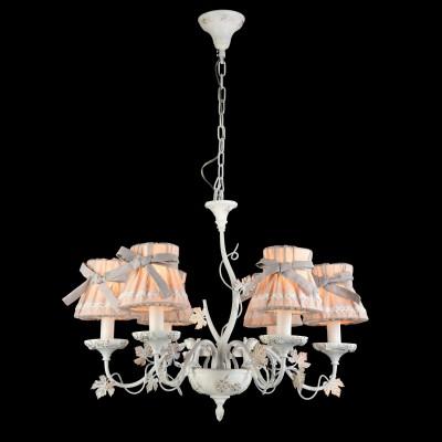 Светильник Maytoni ARM393-06-WПодвесные<br><br><br>Установка на натяжной потолок: Да<br>S освещ. до, м2: 12<br>Крепление: Крюк<br>Тип лампы: Накаливания / энергосбережения / светодиодная<br>Тип цоколя: E14<br>Количество ламп: 6<br>MAX мощность ламп, Вт: 40<br>Диаметр, мм мм: 670<br>Высота, мм: 940<br>Цвет арматуры: белый