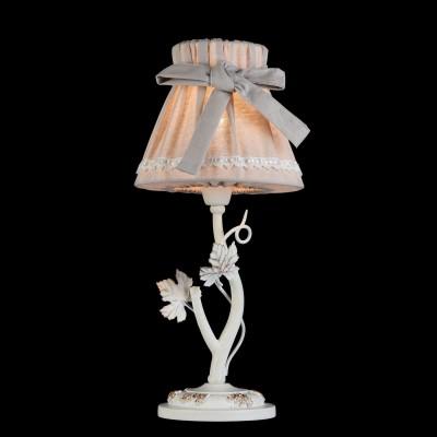 Светильник Maytoni ARM393-11-WФлористика<br><br><br>Тип товара: Настольная лампа<br>Тип лампы: Накаливания / энергосбережения / светодиодная<br>Тип цоколя: E14<br>Количество ламп: 1<br>MAX мощность ламп, Вт: 40<br>Диаметр, мм мм: 180<br>Высота, мм: 380<br>Цвет арматуры: белый