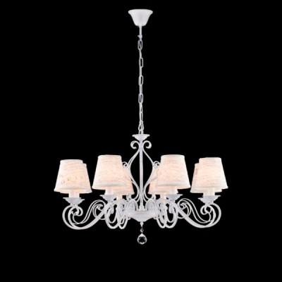 Светильник Maytoni ARM402-08-WПодвесные<br><br><br>Установка на натяжной потолок: Да<br>S освещ. до, м2: 16<br>Крепление: Крюк<br>Тип лампы: Накаливания / энергосбережения / светодиодная<br>Тип цоколя: E14<br>Количество ламп: 8<br>MAX мощность ламп, Вт: 40<br>Диаметр, мм мм: 780<br>Высота, мм: 500<br>Цвет арматуры: белый