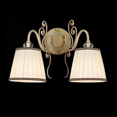 Светильник Maytoni ARM420-02-G Elegant Vintageсовременные бра модерн<br>Поизведенное немецкой фирмой бра Maytoni ARM420-02-G подойдет практически к любому интерьеру и будет великолепным украшением Вашей гостиной или спальни. Настенное бра выполнено в стиле барокко, на фото мы видим два плафона белого цвета и арматуру цвета белое золото. Цена изделия Майтони невысока, качество же традиционно выше всяких похвал. Вам пригодятся две лампочки мощностью 40W, а для крепления к стене понадобится монтажная пластина. Такая покупка наверняка порадует Вас, ведь стоимость ее вполне оправданна, так как Maytoni тщательно заботится о своей репутации, производя только высококачественную продукцию.<br><br>S освещ. до, м2: 5<br>Тип лампы: накаливания / энергосбережения / LED-светодиодная<br>Тип цоколя: E14<br>Цвет арматуры: белый с золотистой патиной<br>Количество ламп: 2<br>Выступ, мм: 270<br>Высота, мм: 280<br>MAX мощность ламп, Вт: 40