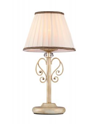 Светильник Maytoni ARM420-22-G VintageКлассические настольные лампы<br>Настольная лампа  ARM420-22-G   Vintage  от компании Maytoni из Германии, отличный выбор для создания винтажного  стиля в комнате, кабинете, библиотеке.  Арматура белого цвета с золотой патиной,  декоративными элементами в виде хрустального шара на основании, завитки в форме веточек,  белый  абажур добавят комнате шарм и изысканность.  Светильник  от Майтони — это качественное устройство от мирового бренда по справедливой стоимости. Производитель Maytoni рекомендует использовать для устройства  1 лампу накаливания  с цоколем E14. Освещает  светильник 2 м2. Осветительный прибор произведен с использованием материала: арматура из металла, абажуры из плотного плиссированного атласа с тесьмой.<br>Для покупки устройства просто нажмите кнопку «добавить в корзину» или свяжитесь с нашими менеджерами.<br><br>S освещ. до, м2: 2<br>Тип лампы: накаливания / энергосбережения / LED-светодиодная<br>Тип цоколя: E14<br>Цвет арматуры: белая с золотой патиной<br>Количество ламп: 1<br>Диаметр, мм мм: 220<br>Высота, мм: 430<br>Оттенок (цвет): золото<br>MAX мощность ламп, Вт: 40