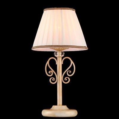 Светильник Maytoni ARM420-22-G ARM420Классические<br>Настольная лампа – это не просто источник дополнительного освещения, но и оригинальный элемент декора. Его можно установить в спальне, гостиной, кабинете и других комнатах. Интернет-магазин «Светодом» предлагает настольные лампы разных стилей по доступным ценам. Благодаря большому ассортименту Вы обязательно найдете в нашем каталоге именно ту модель, которую искали.   Настольная лампа Maytoni ARM420-22-G – прекрасный вариант для завершения интерьера. Ее можно включить одновременно с люстрой для более яркого освещения или без нее для создания уютной атмосферы, настраивающей на отдых.   Купить настольную лампу Maytoni ARM420-22-G Вы можете с помощью виртуальной «Корзины» или по контактным номерам, указанным на сайте.<br><br>Тип лампы: накаливания / энергосбережения / LED-светодиодная<br>Тип цоколя: E14<br>MAX мощность ламп, Вт: 40<br>Диаметр, мм мм: 220<br>Высота, мм: 430<br>Цвет арматуры: белый с золотистой патиной