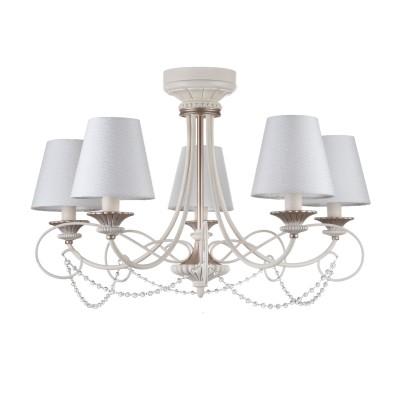 Люстра Maytoni ARM424-PL-05-W SonateПотолочные<br><br><br>S освещ. до, м2: 10<br>Тип лампы: накаливания / энергосбережения / LED-светодиодная<br>Тип цоколя: E14<br>Цвет арматуры: Кремовый<br>Количество ламп: 5<br>Ширина, мм: --<br>Диаметр, мм мм: --<br>Глубина, мм: 755<br>Длина цепи/провода, мм: 1460<br>Оттенок (цвет): Кремовый<br>MAX мощность ламп, Вт: 40