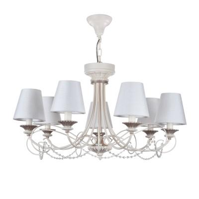 Люстра Maytoni ARM424-PL-07-W SonateПодвесные<br><br><br>S освещ. до, м2: 14<br>Тип лампы: накаливания / энергосбережения / LED-светодиодная<br>Тип цоколя: E14<br>Цвет арматуры: Кремовый<br>Количество ламп: 7<br>Ширина, мм: --<br>Диаметр, мм мм: --<br>Глубина, мм: 850<br>Длина цепи/провода, мм: 1460<br>Оттенок (цвет): Кремовый<br>MAX мощность ламп, Вт: 40